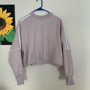 NWT Adidas women's large lavender crop hoodie